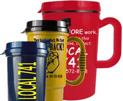 Union Travel Mugs, Union Made & Union Printed