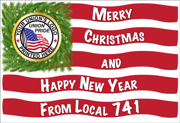 Union Made Christmas Cards and Union Made Holiday Greeting Cards, Union Made & Union Printed